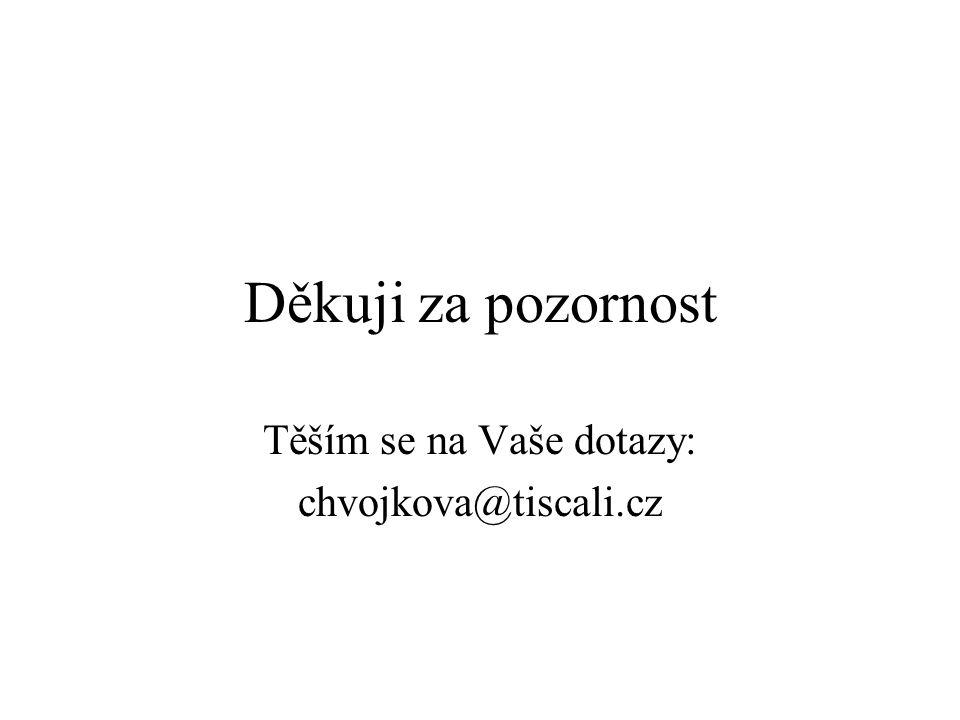 Těším se na Vaše dotazy: chvojkova@tiscali.cz