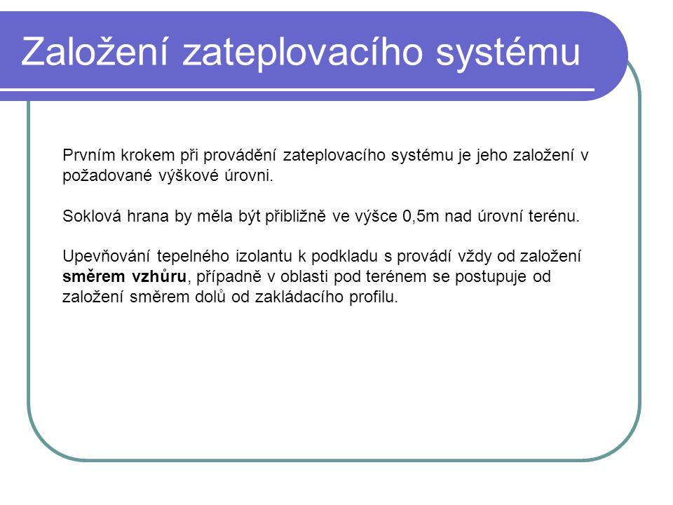 Založení zateplovacího systému