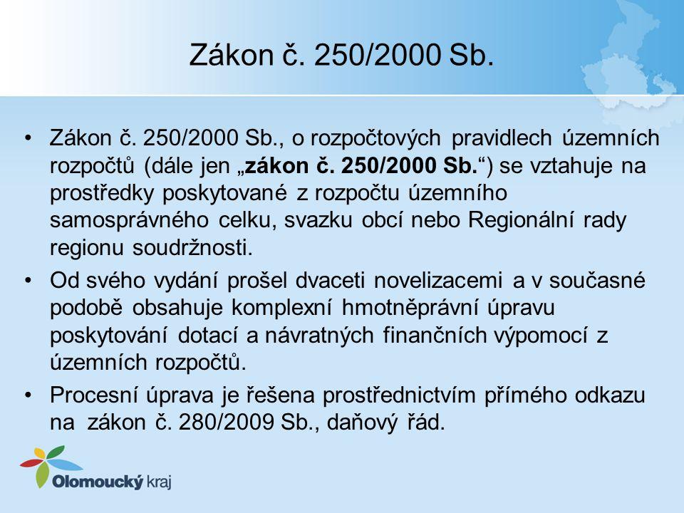 Zákon č. 250/2000 Sb.
