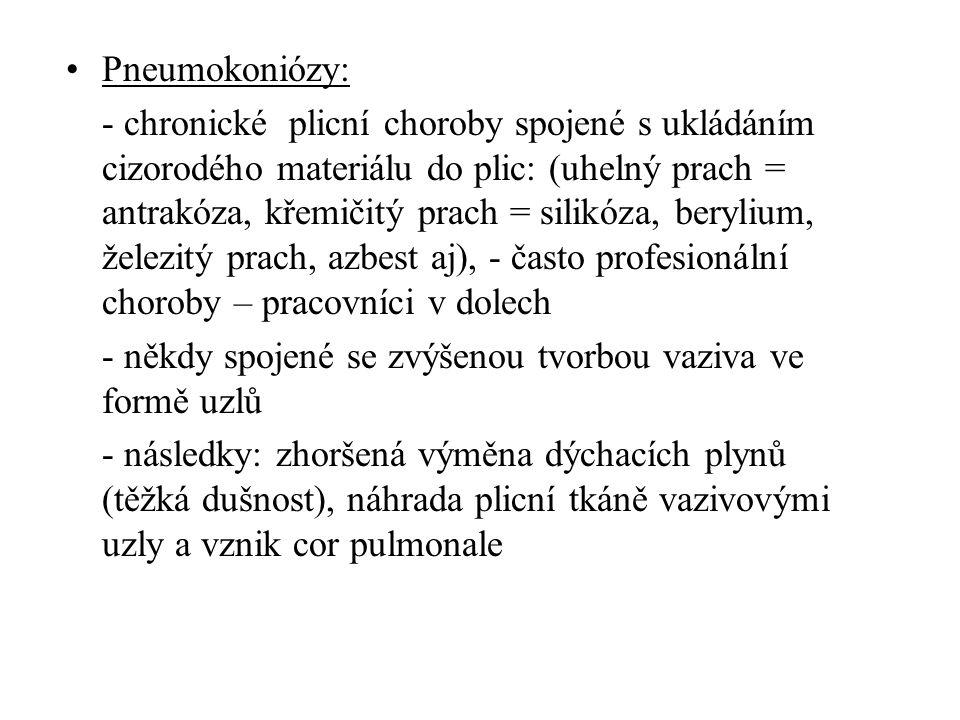 Pneumokoniózy: