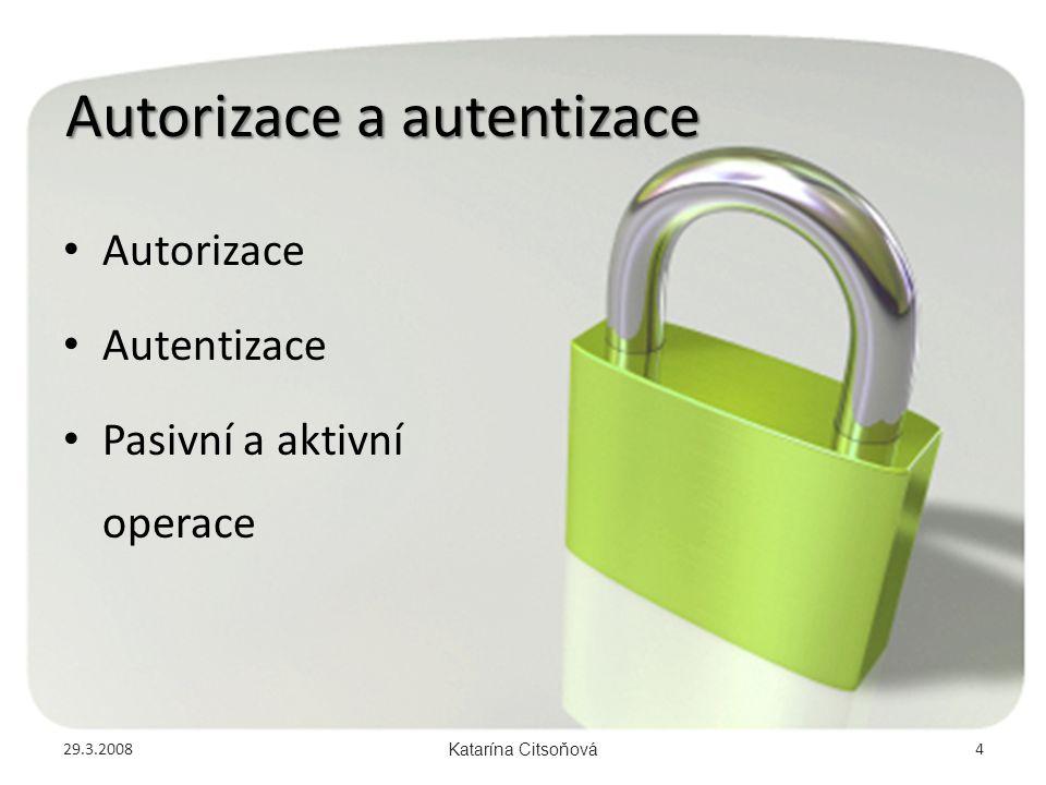 Autorizace a autentizace