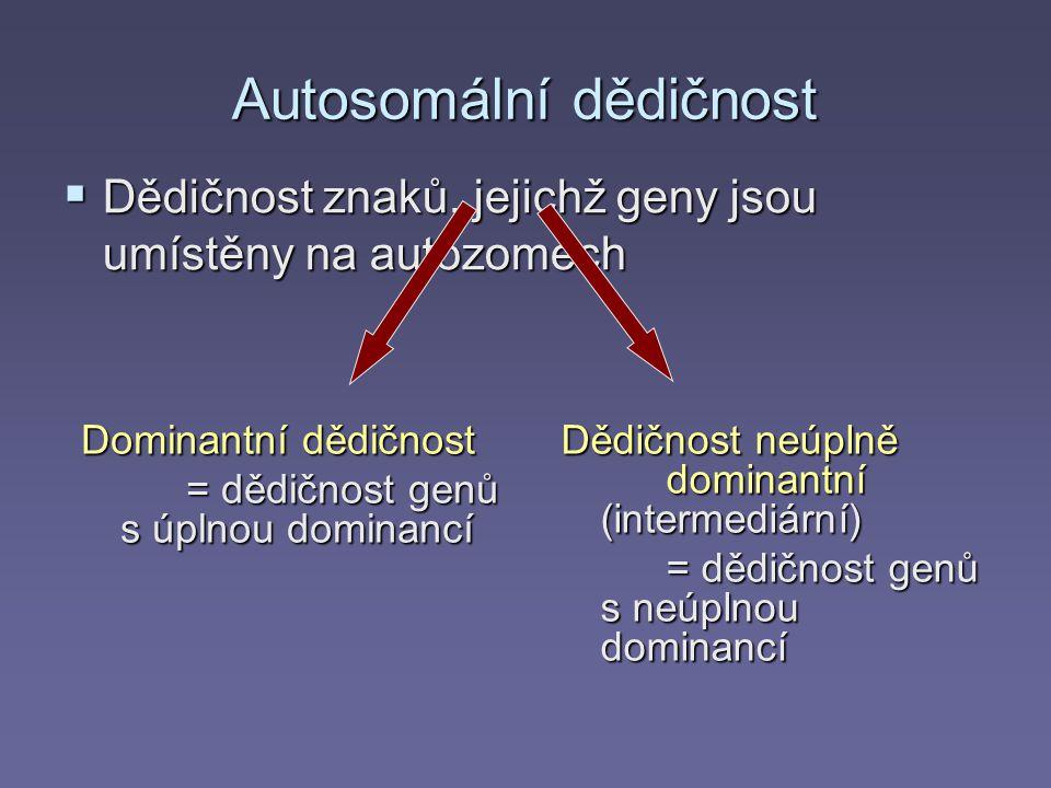 Autosomální dědičnost