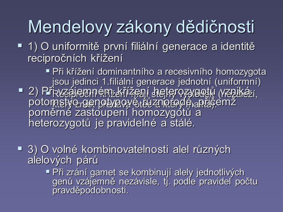 Mendelovy zákony dědičnosti