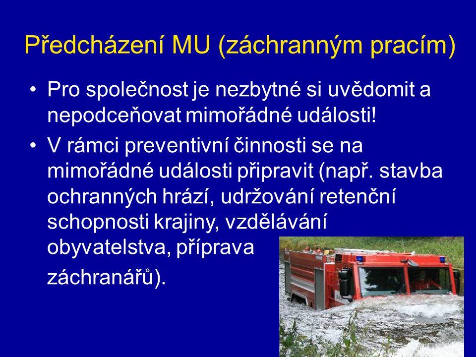 Předcházení MU (záchranným pracím)
