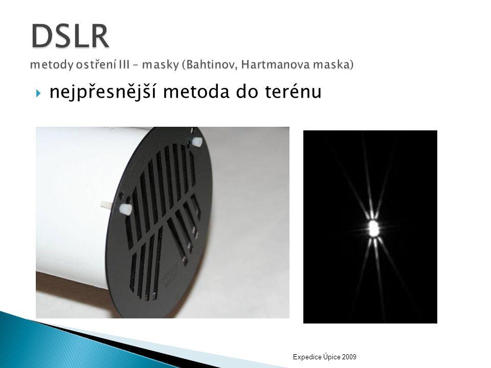 DSLR metody ostření III – masky (Bahtinov, Hartmanova maska)