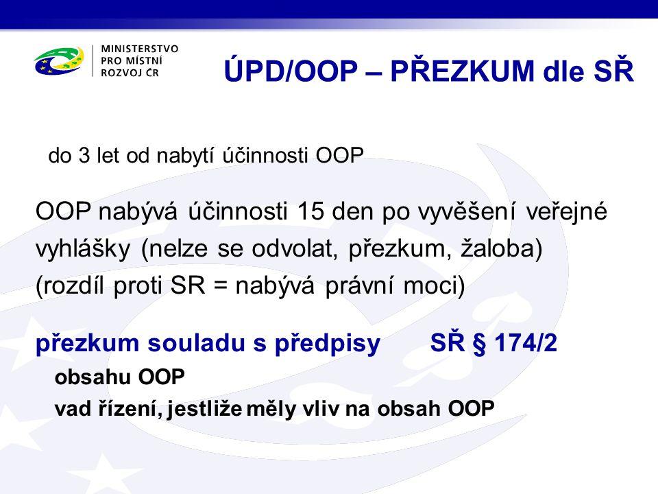 ÚPD/OOP – PŘEZKUM dle SŘ