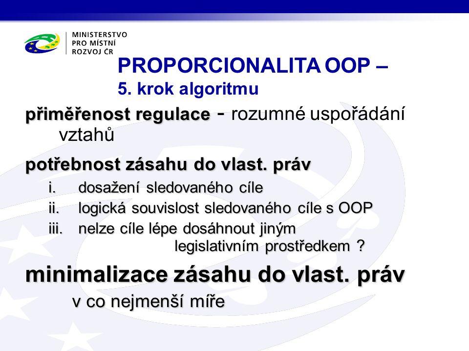 PROPORCIONALITA OOP – 5. krok algoritmu