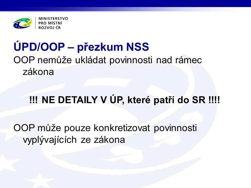 ÚPD/OOP – přezkum NSS