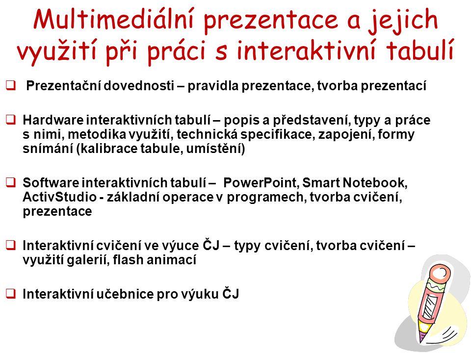 Multimediální prezentace a jejich využití při práci s interaktivní tabulí