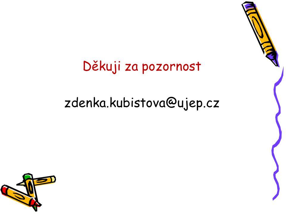Děkuji za pozornost zdenka.kubistova@ujep.cz