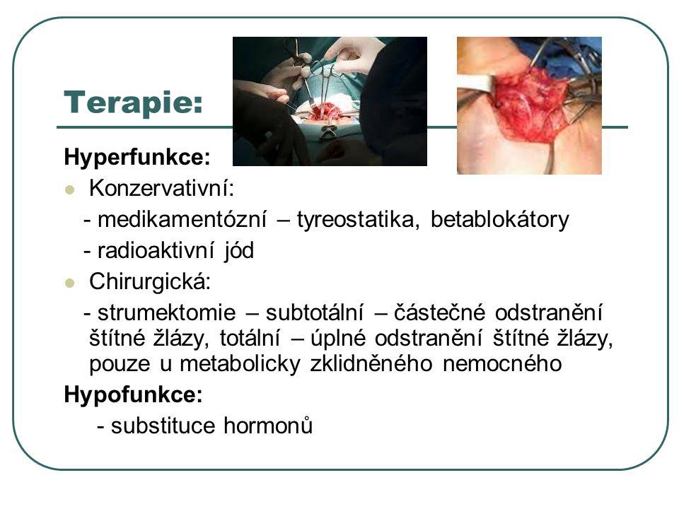 Terapie: Hyperfunkce: Konzervativní: