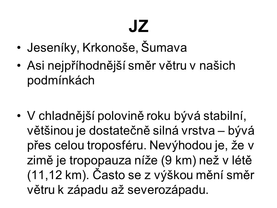 JZ Jeseníky, Krkonoše, Šumava