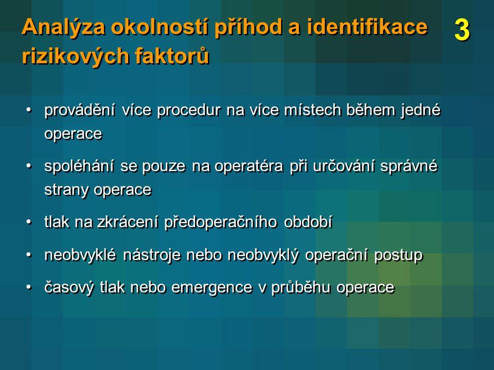 3 Analýza okolností příhod a identifikace rizikových faktorů