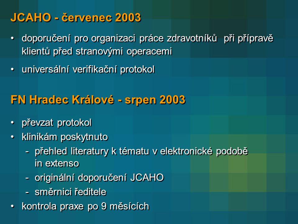 FN Hradec Králové - srpen 2003