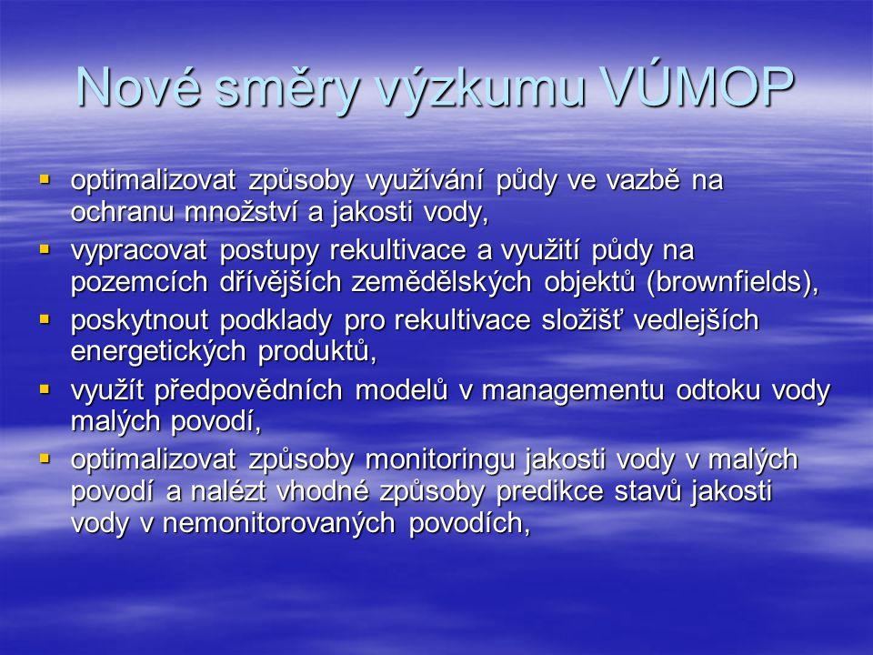 Nové směry výzkumu VÚMOP