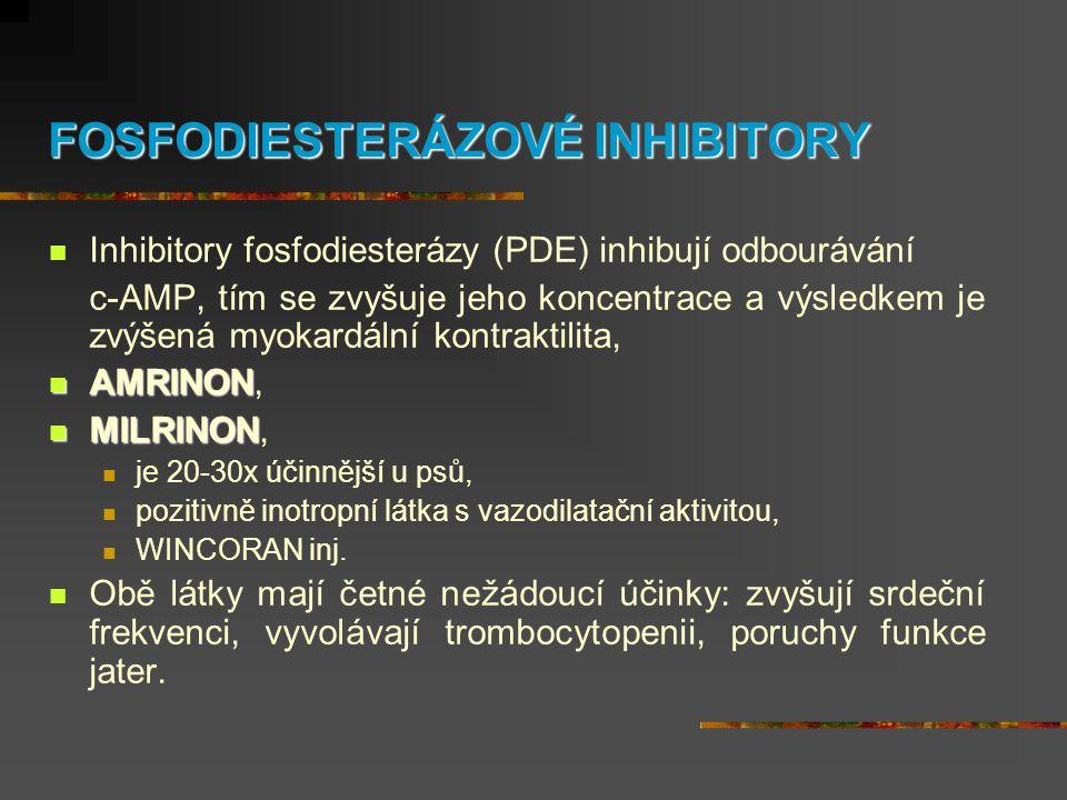 FOSFODIESTERÁZOVÉ INHIBITORY