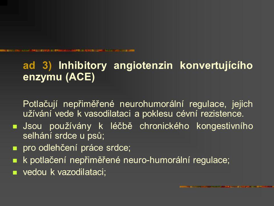 ad 3) Inhibitory angiotenzin konvertujícího enzymu (ACE)