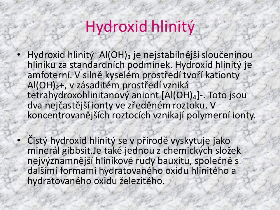 Hydroxid hlinitý