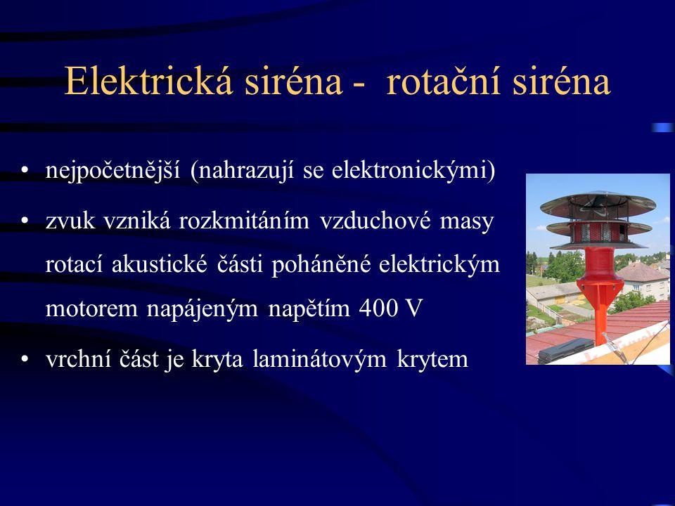 Elektrická siréna - rotační siréna