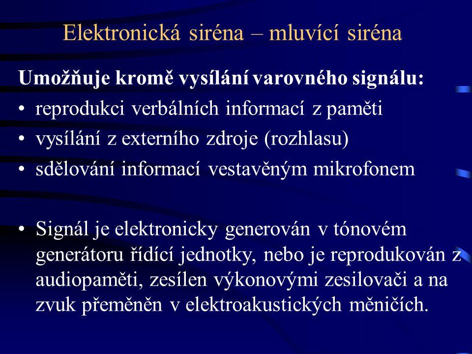 Elektronická siréna – mluvící siréna