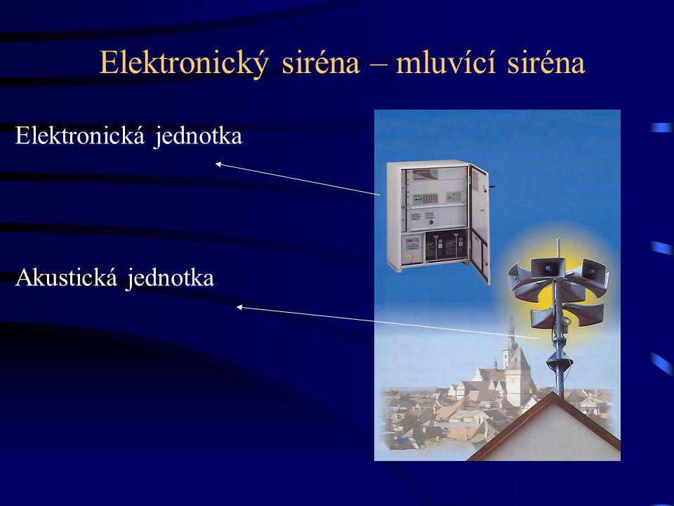 Elektronický siréna – mluvící siréna