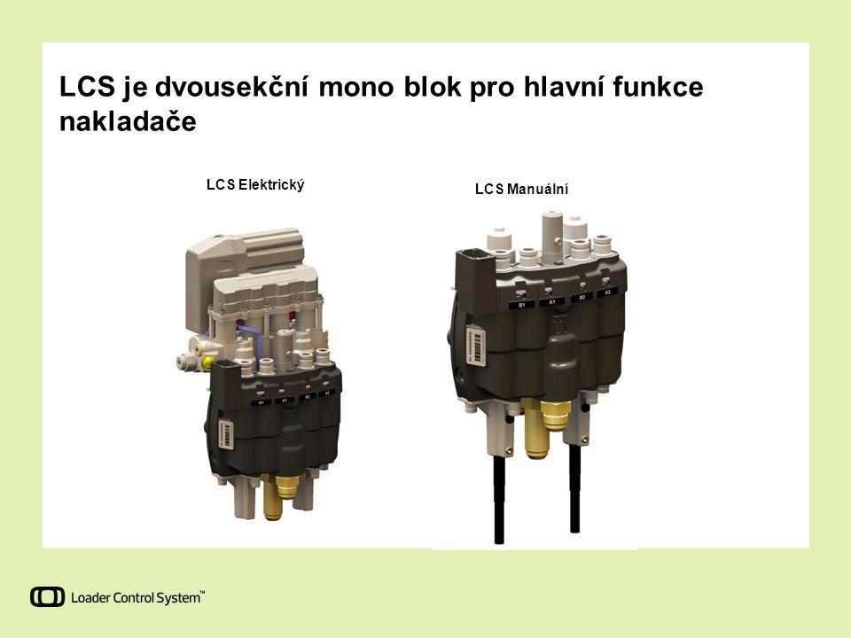 LCS je dvousekční mono blok pro hlavní funkce nakladače