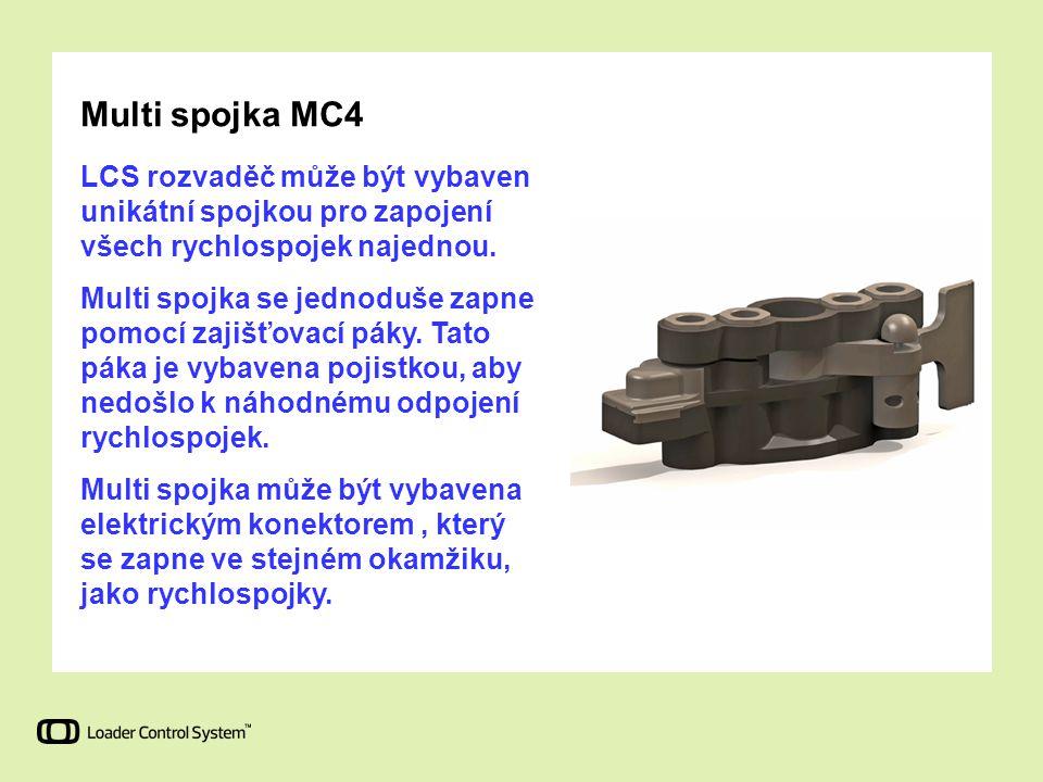 Multi spojka MC4 LCS rozvaděč může být vybaven unikátní spojkou pro zapojení všech rychlospojek najednou.