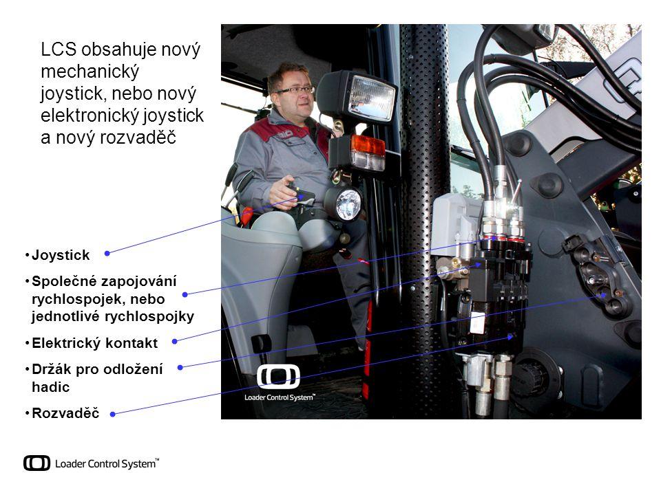 LCS obsahuje nový mechanický joystick, nebo nový elektronický joystick a nový rozvaděč