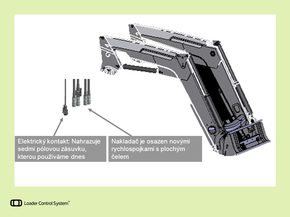 Elektrický kontakt: Nahrazuje sedmi pólovou zásuvku, kterou používáme dnes