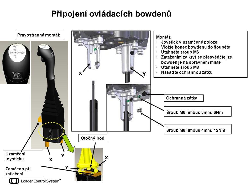 Připojení ovládacích bowdenů