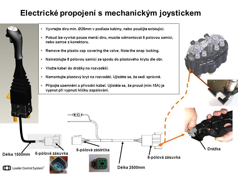 Electrické propojení s mechanickým joystickem