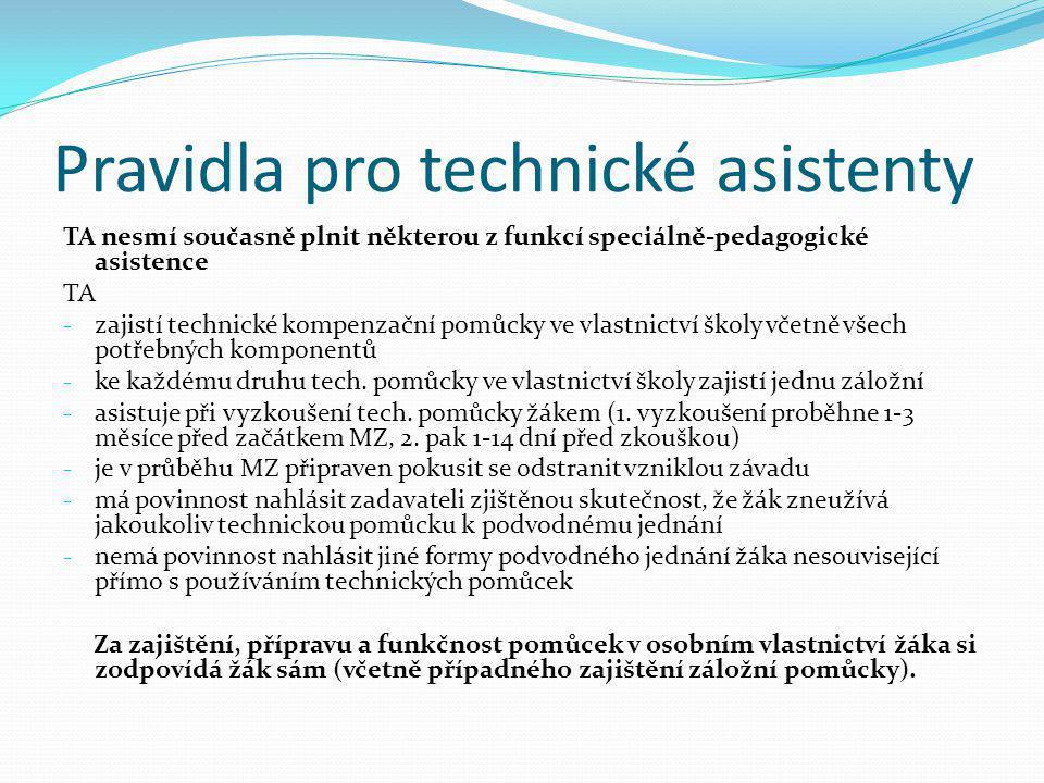 Pravidla pro technické asistenty