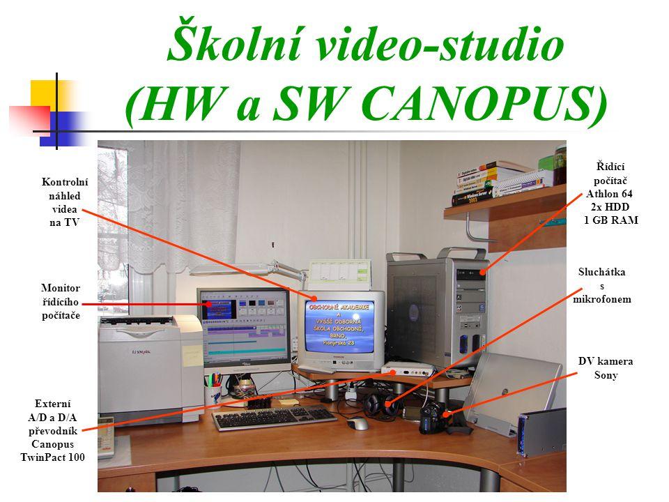 Školní video-studio (HW a SW CANOPUS)