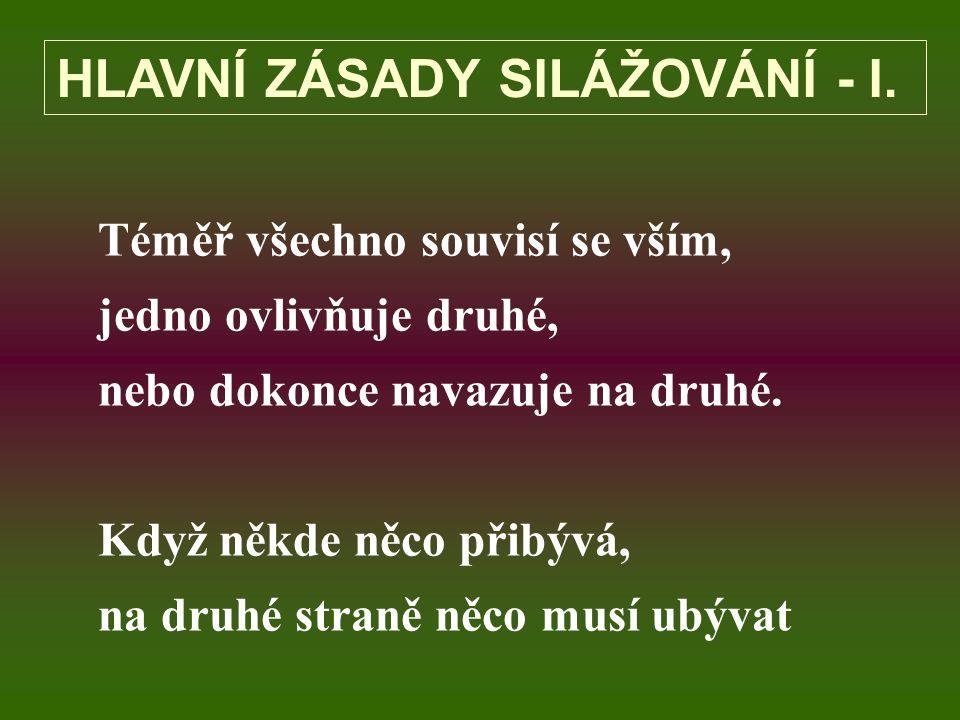 HLAVNÍ ZÁSADY SILÁŽOVÁNÍ - I.