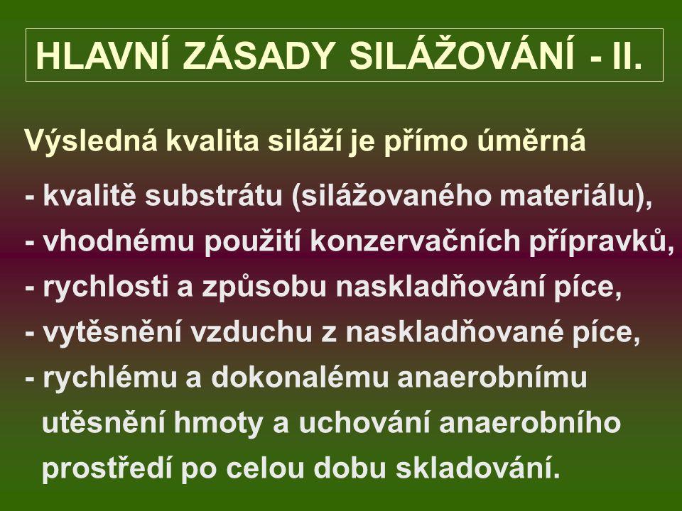 HLAVNÍ ZÁSADY SILÁŽOVÁNÍ - II.
