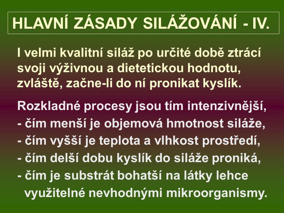 HLAVNÍ ZÁSADY SILÁŽOVÁNÍ - IV.