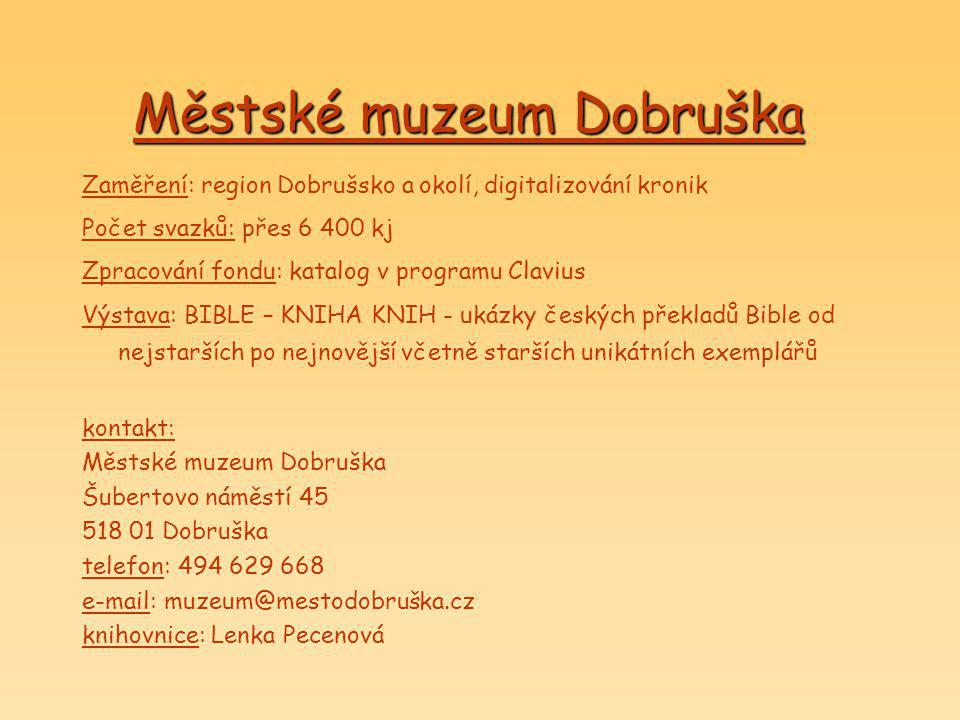 Městské muzeum Dobruška