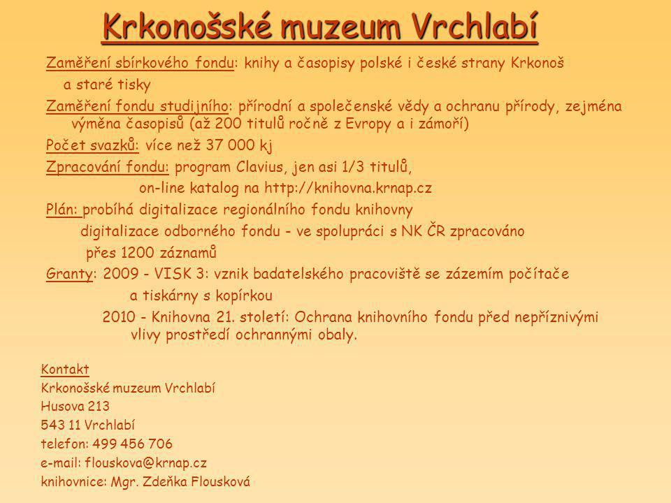 Krkonošské muzeum Vrchlabí