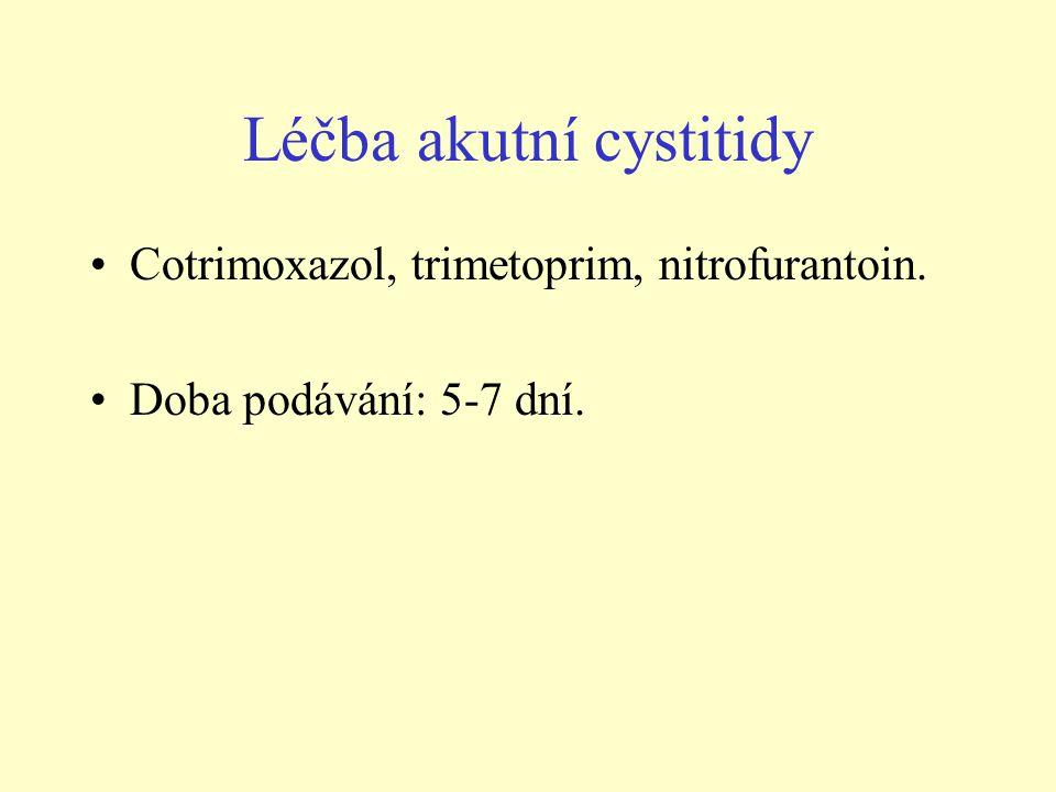 Léčba akutní cystitidy