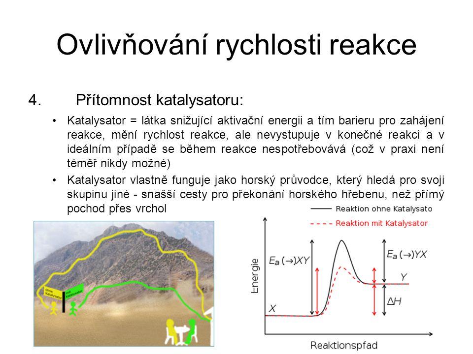 Ovlivňování rychlosti reakce