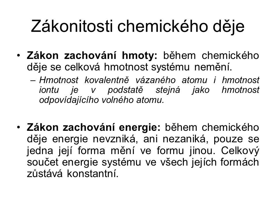 Zákonitosti chemického děje