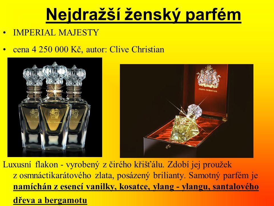Nejdražší ženský parfém