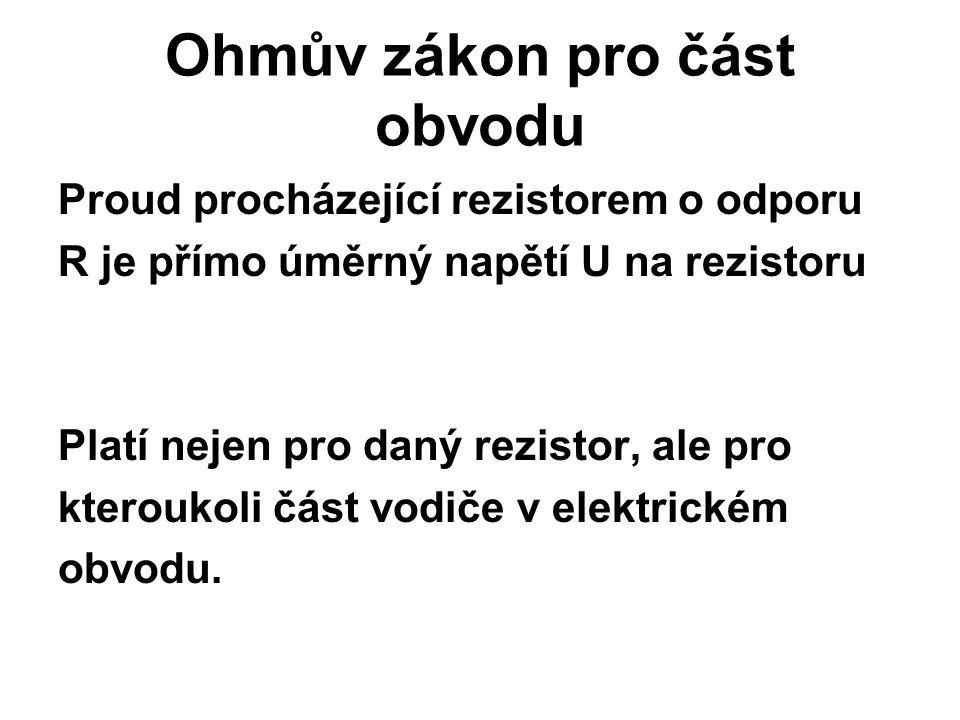 Ohmův zákon pro část obvodu