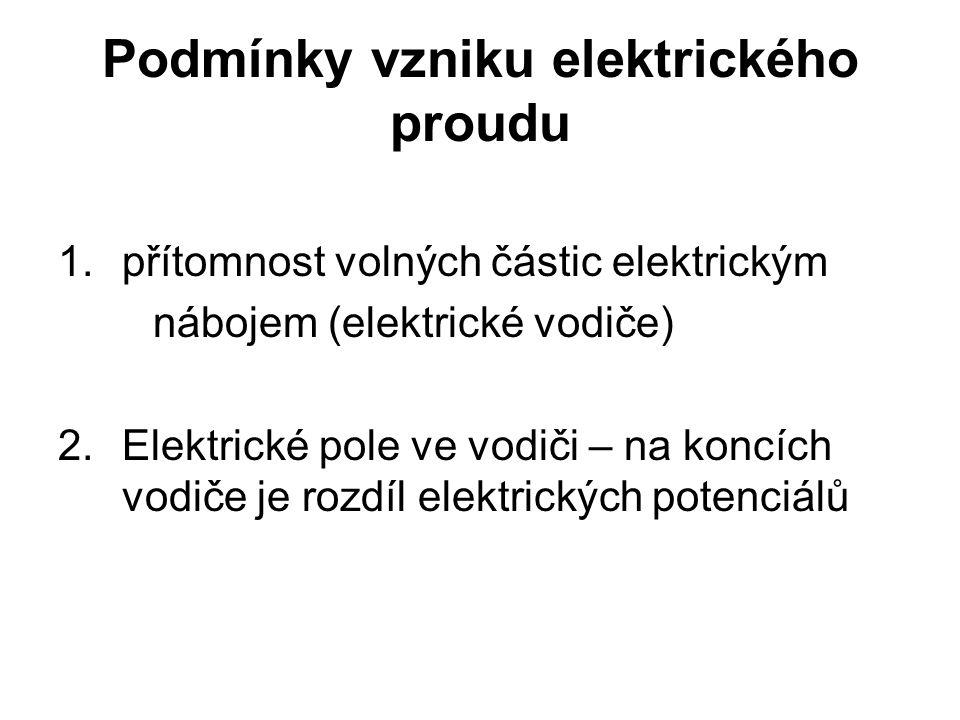 Podmínky vzniku elektrického proudu