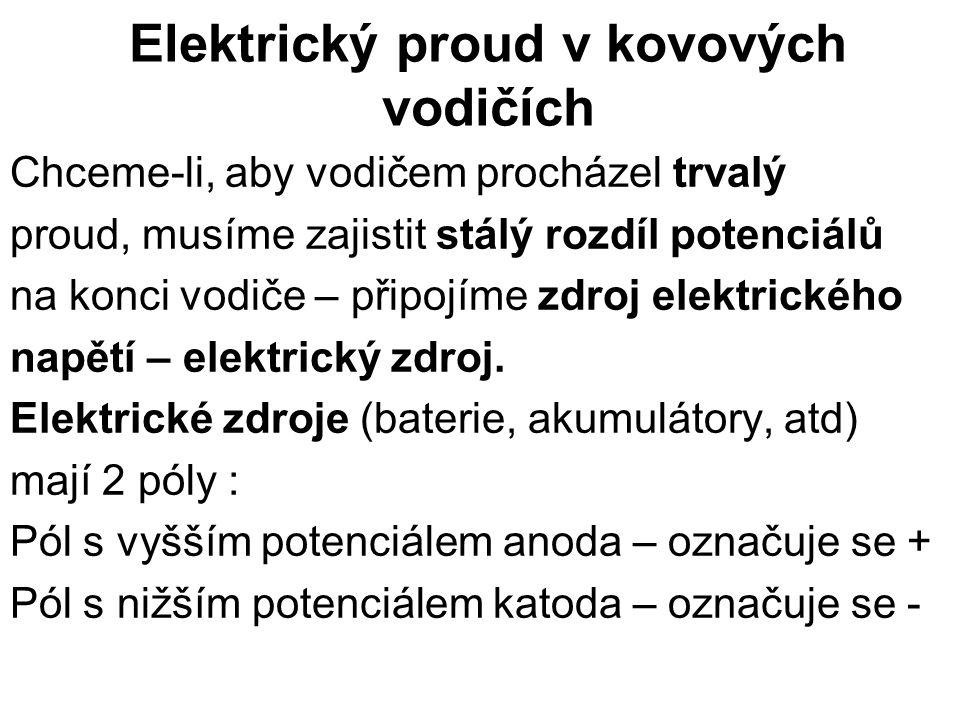 Elektrický proud v kovových vodičích