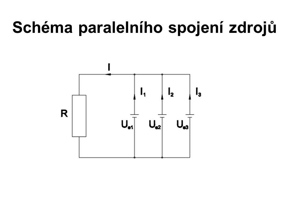 Schéma paralelního spojení zdrojů
