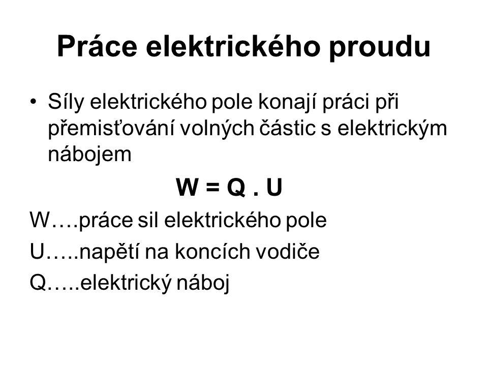Práce elektrického proudu