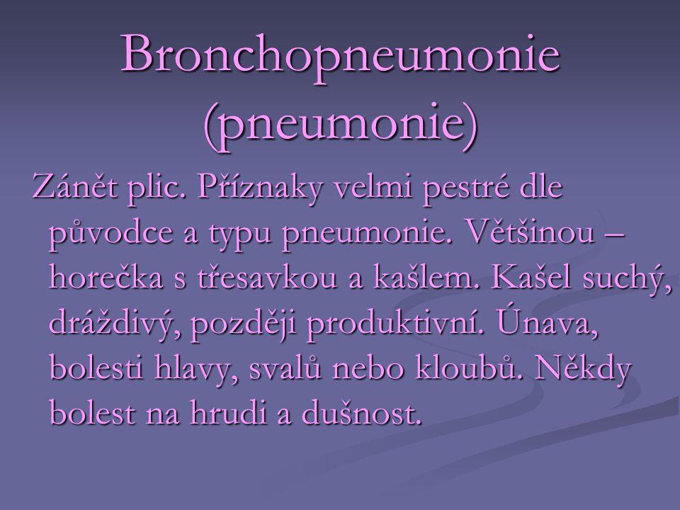 Bronchopneumonie (pneumonie)