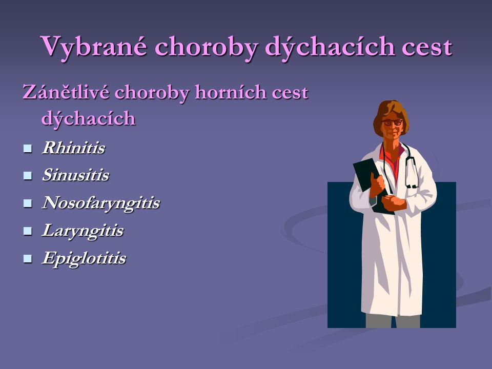 Vybrané choroby dýchacích cest