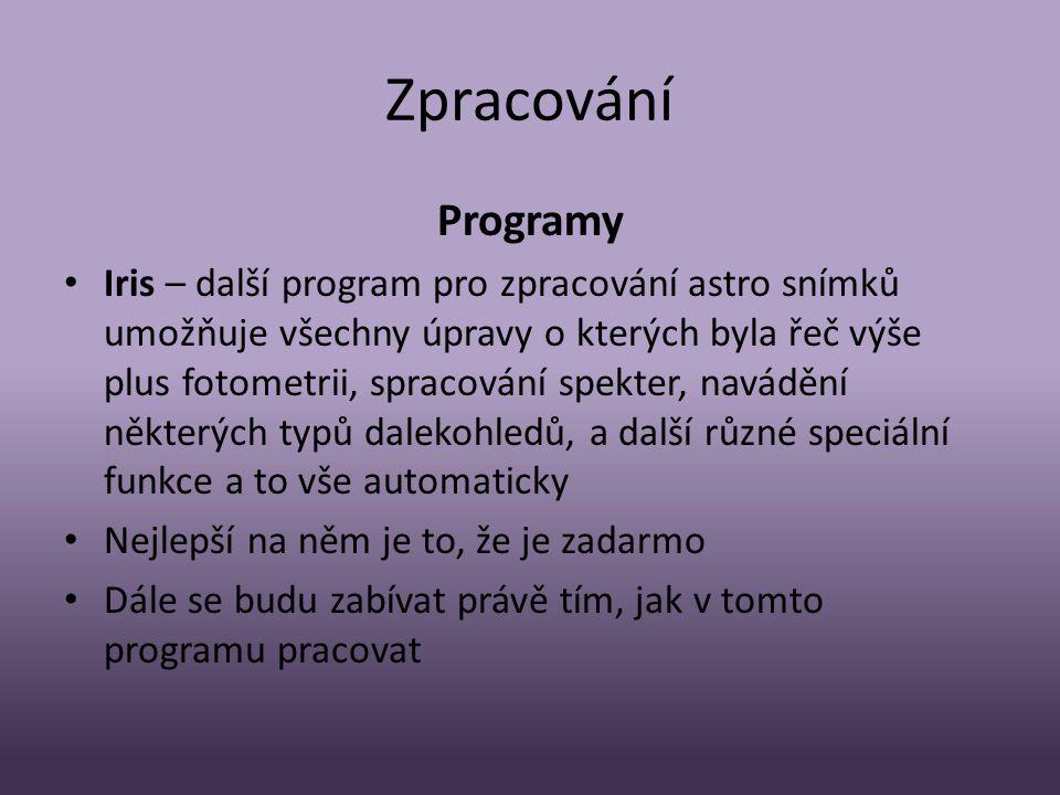 Zpracování Programy.
